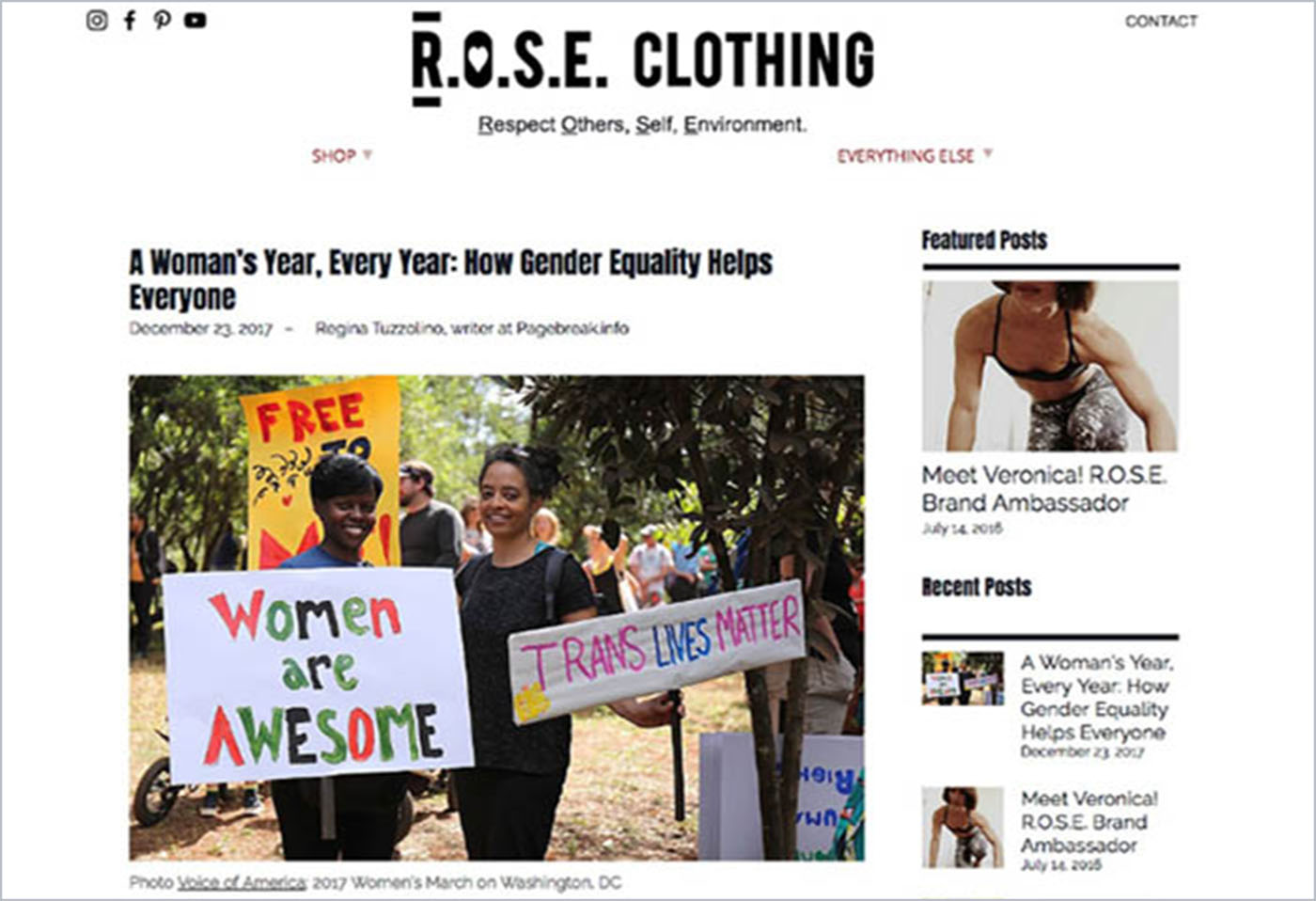 Blog from R.O.S.E. Clothing
