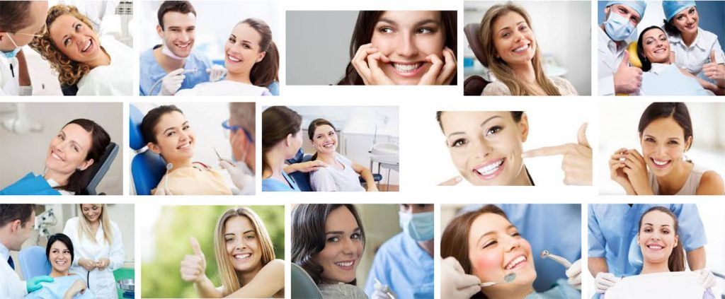 hilarious stock photos: smiling dental patients and dentists