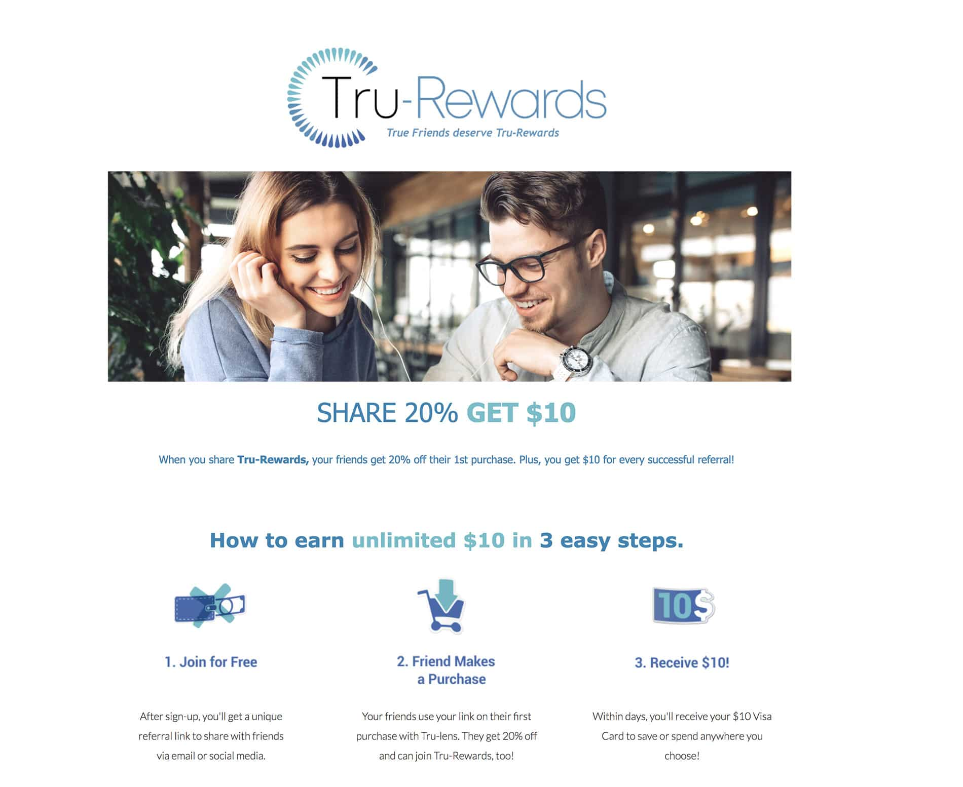 Regina Tuzzolino landing page rewards program project