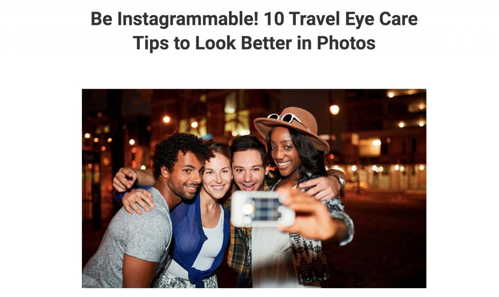 Diverse friends take instagrammable travel selfie.